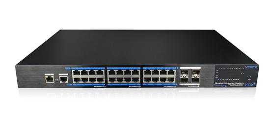 优特普24口全千兆网管型PoE交换机